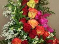 große Zusammensetzung von Rosen