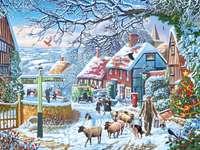 Vesnice v zimě