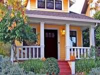 pomarańczowy dom