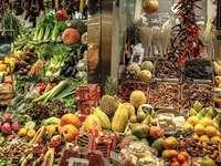 Marknad och grönsaker