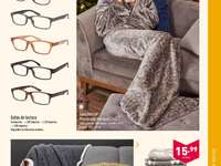 Offer of glasses, blankets, and books