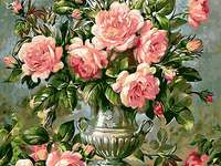 képfestett rózsák