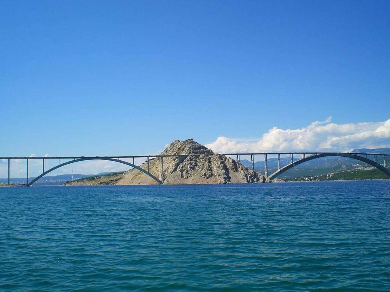 Ponti tra le isole di Krk Croazia (14×11)