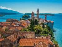 Città sull'isola di Rab Croazia