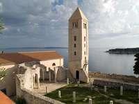 Stad op het eiland Rab Kroatië