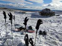 Snowshoeing through the mountains of Sanabria