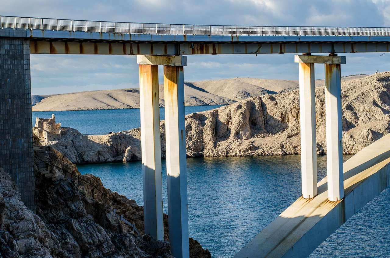 Ponte dell'isola di Pag Croazia (16×11)