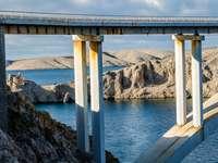 Insel Pag Brücke Kroatien