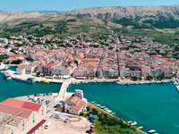 Ciudad de la isla de Pag Croacia