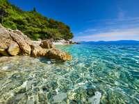 Hvar sziget parti táj Horvátország