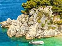 Vis sziget öböl Horvátország