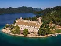 Mljet island monastery complex Croatia