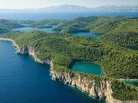 Mljet ölandskap Kroatien