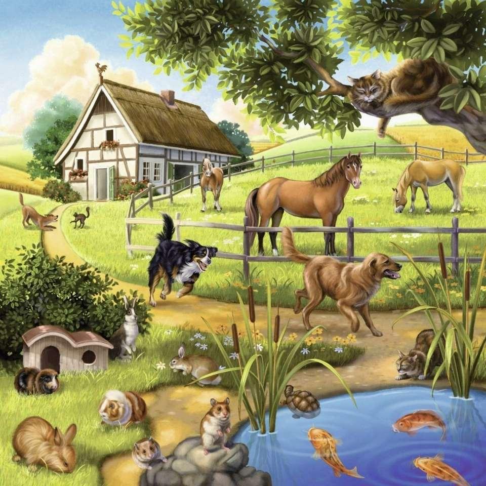állatok a gazdaságban - m (11×11)