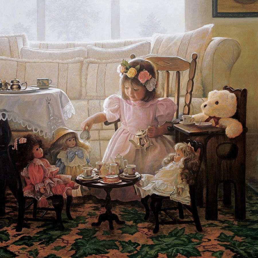 Crème et sucre - Peinture de Greg Olsen (9×9)
