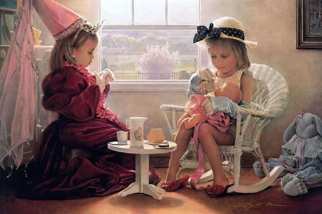 Déjeuner formel - Peinture de Greg Olsen (10×7)