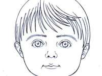 Partes do rosto do quebra-cabeça