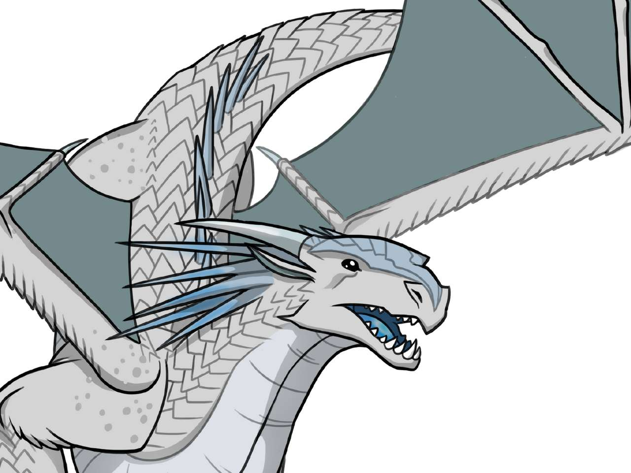 Aripi de foc Aripă de gheață - Această descriere este a unui dragon de gheață din cărți (12×9)