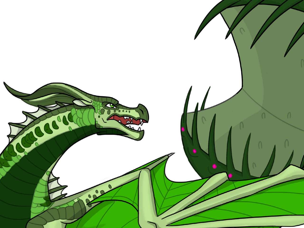 Asas de fogo Leafwing - Um dragão da série de livros (12×9)