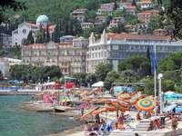 Opatijské pobřežní město Chorvatsko