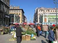 Cidade de Rijeka na Croácia