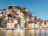 Πόλη του Σίμπενικ στην Κροατία