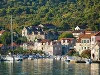 Město Šibenik v Chorvatsku