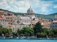 Sibenik stad i Kroatien