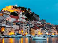 Sibenik city in Croatia