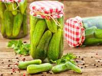 cucumbers from the jar