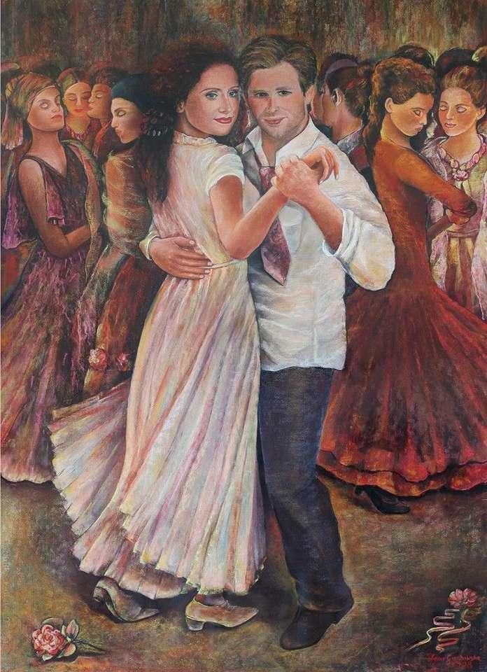 karnevalsfest i målning