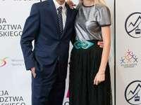 Ο Kamil Stoch με τη γυναίκα του