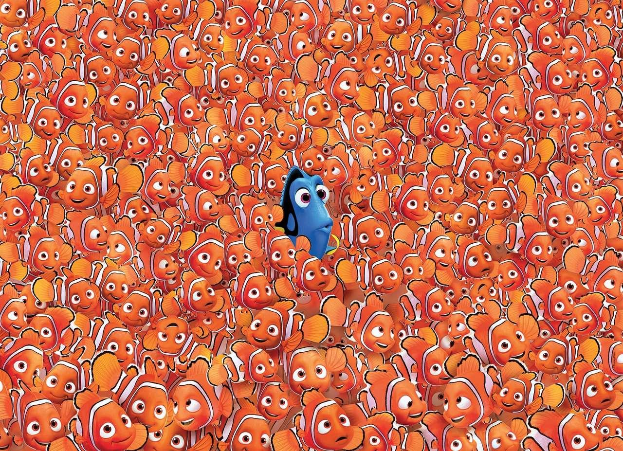 Dory és Nemo - Lehetetlen puzzle különösen mindenki számára (20×15)