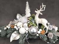 decoration with reindeer