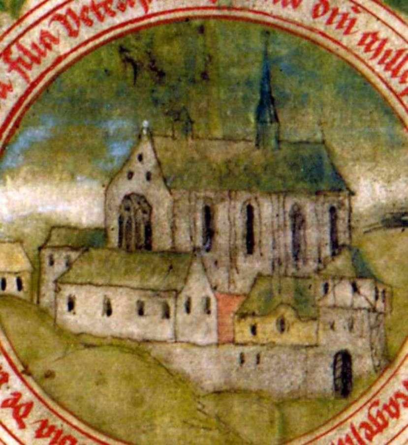 Klasztor w Łeknie - Klasztor w Łeknie obecny jest w legendach o jego zniszczeniu (10×12)