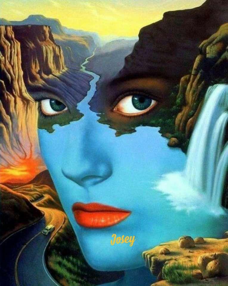 Ansikte i landskapet - Bilder i landskap (15×20)