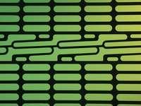 zielono-czarne paski tekstylne