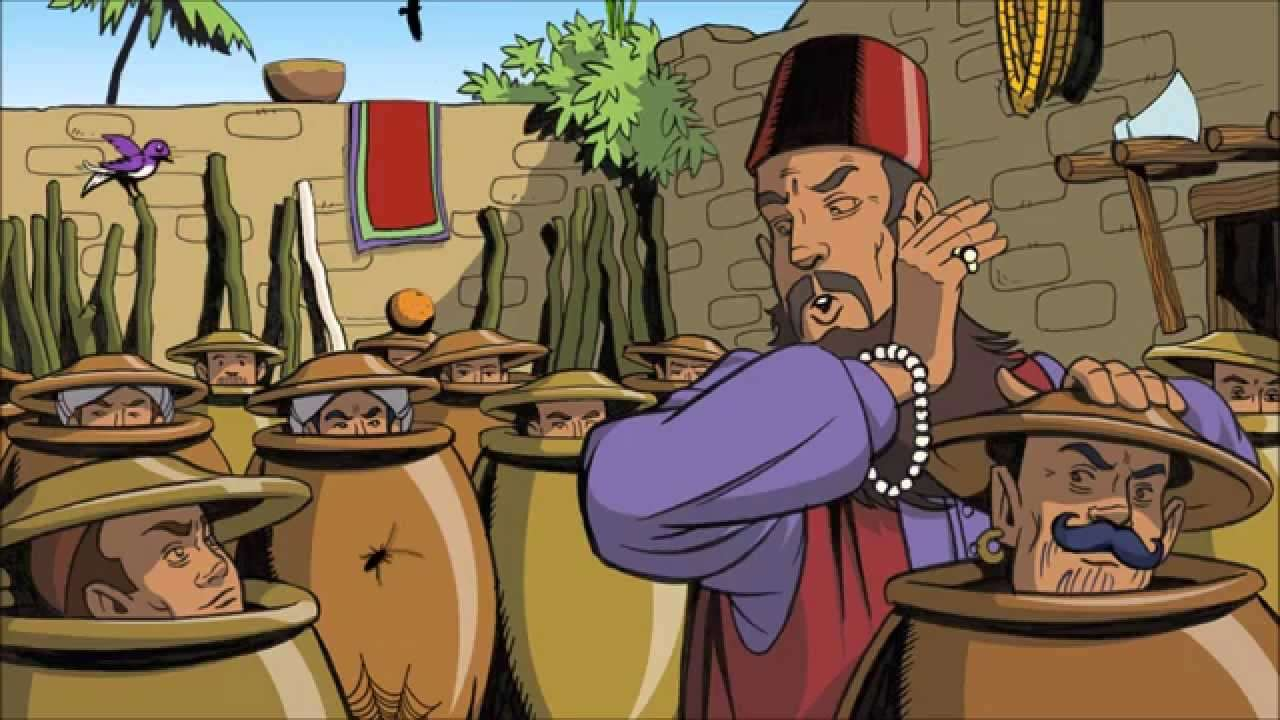 ALI BABA - TALE OF ALI BABA AND THE 40 THIEVES (7×4)
