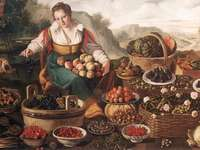 vincenzo campi. a gyümölcs eladó