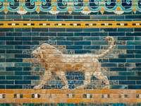 lion et lion art mural