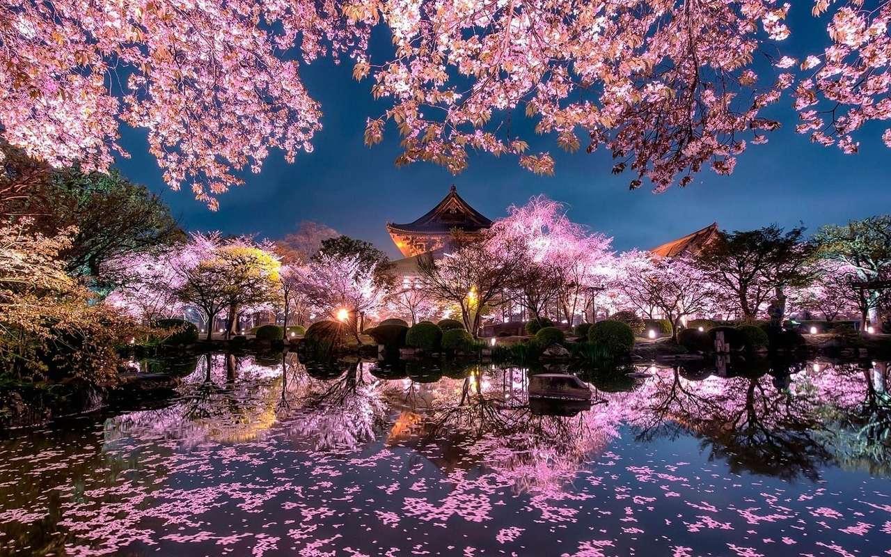 Japanskt landskap - Japanskt landskapspussel (3×2)