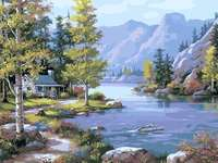 folyó a hegyekben