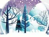 Зима, пълна със сняг