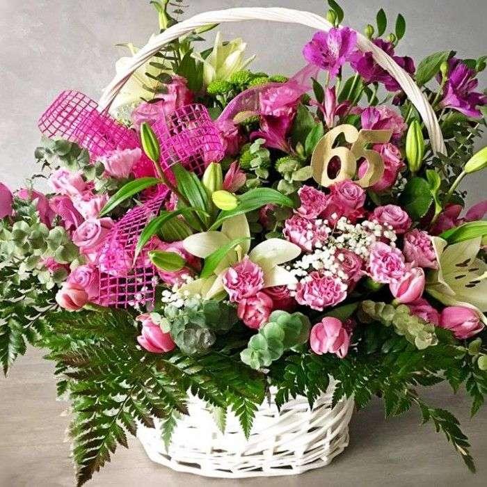 kwiaty w koszu - m (10×10)