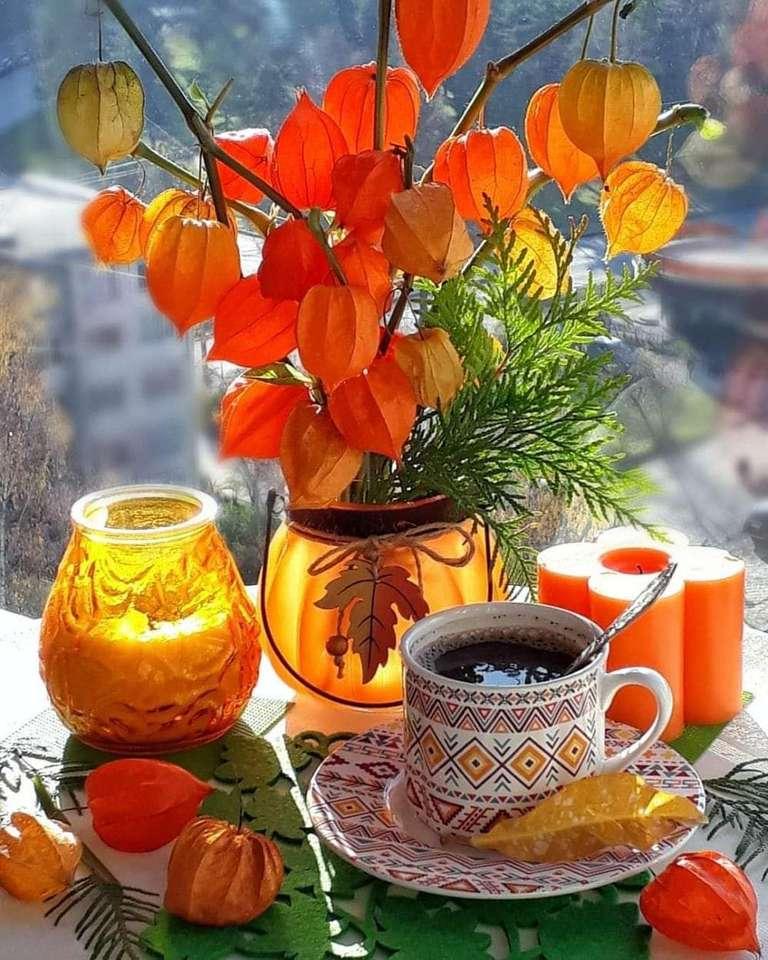 No café - Memória de outono (13×17)