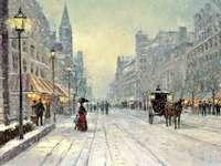 stad på vintern