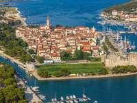 Trogir város Horvátországban