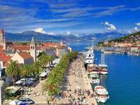Město Trogir v Chorvatsku