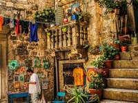 Trogir Stadt in Kroatien
