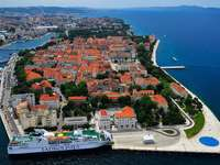 Zadar város Horvátországban